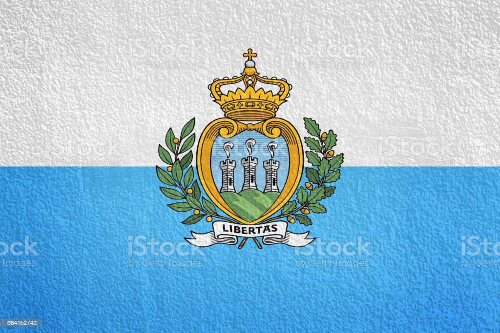 San Marino Flag painted on grunge wall foto stock royalty-free
