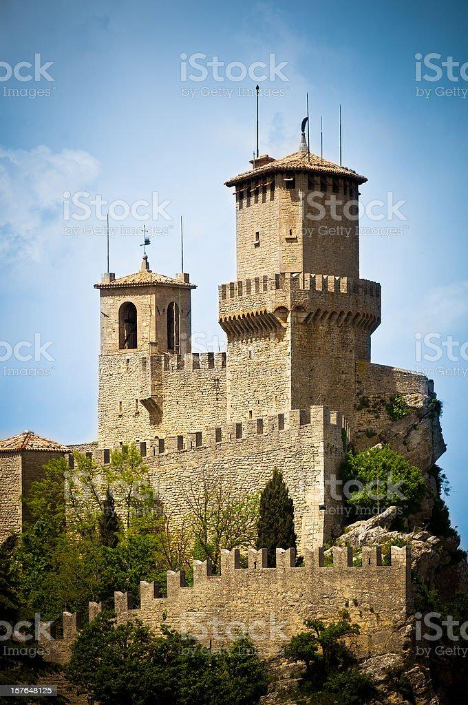 San Marino Guaita, First Tower Castle royalty-free stock photo