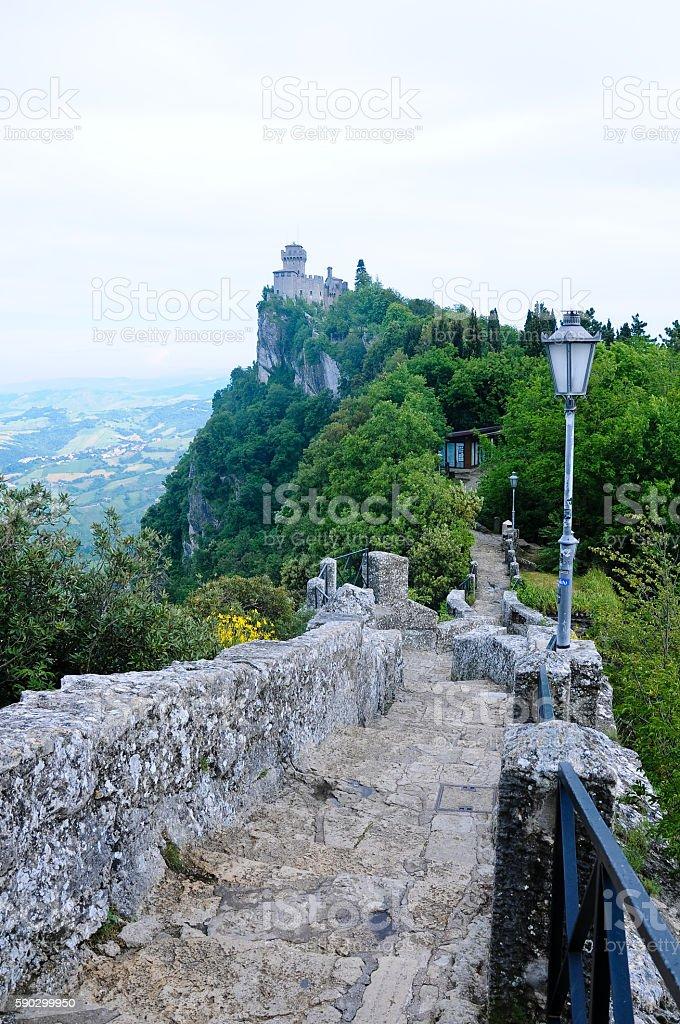 San Marino - Guaita or Rocca, the First Tower royaltyfri bildbanksbilder