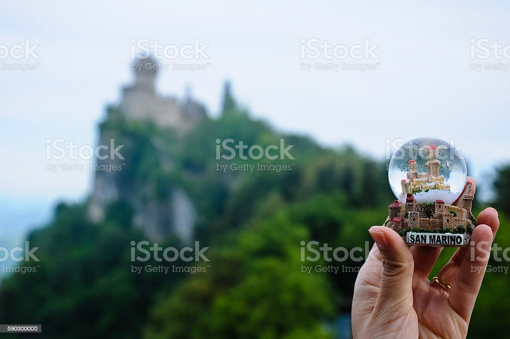 San Marino - Guaita or Rocca, the First Tower royaltyfri bildbanksbilder