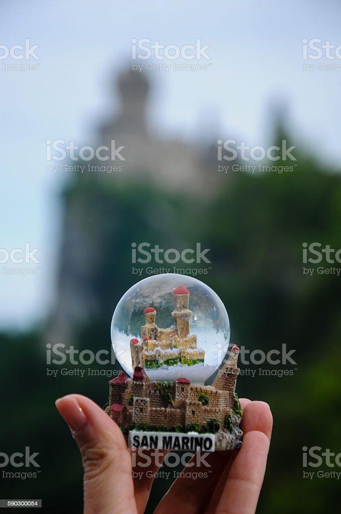 Сан-Марино-Guaita или «Rocca», первый Башня Стоковые фото Стоковая фотография