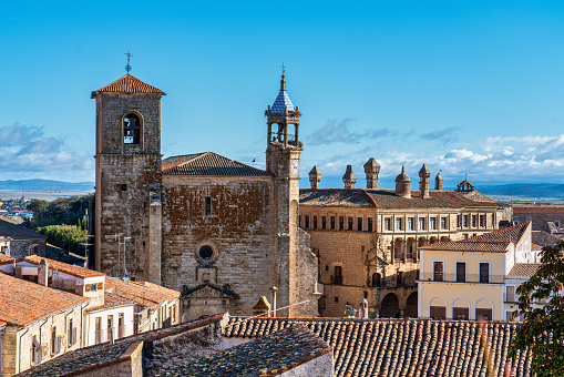 San Martin Church at the Plaza Mayor, Main Square of Trujillo. Spain.