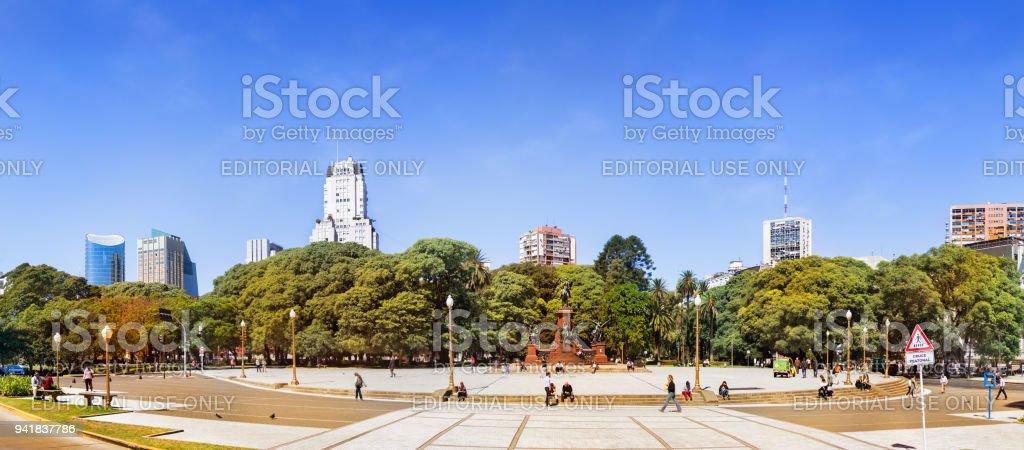 San Martin square (Plaza San Martin) stock photo