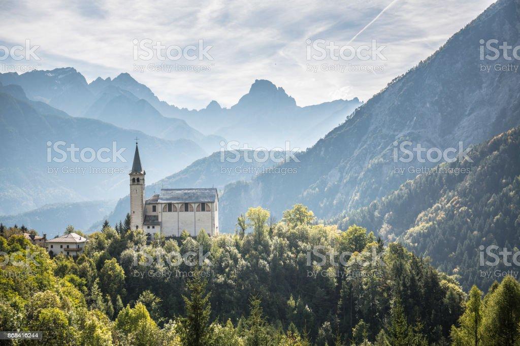 San Martino church's, Valle di Cadore, Italy - foto stock