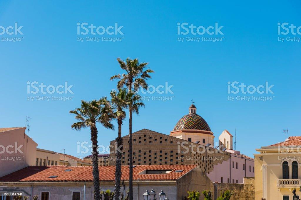 Cúpula de San Michele en Alghero - foto de stock