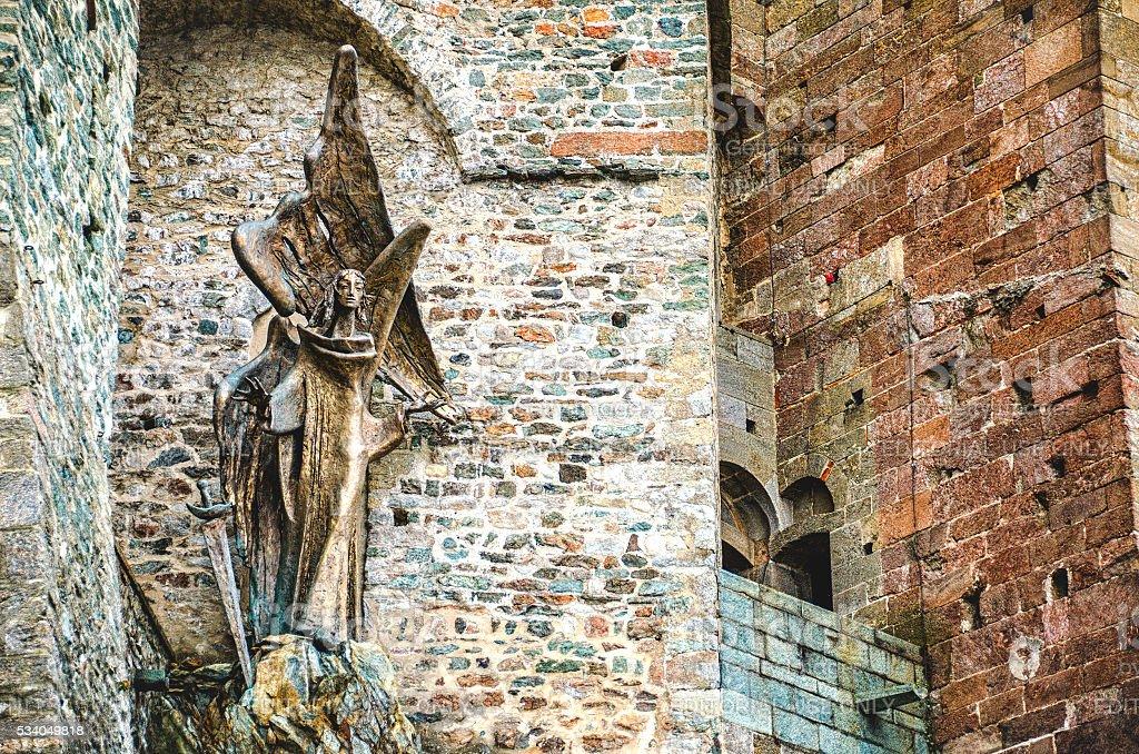 San Michele statue stock photo
