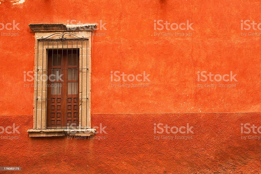 """San Miguel de Alende """"A typical brightly colored wall and window in San Miguel de Allende, Mexico.View More:"""" Architectural Feature Stock Photo"""