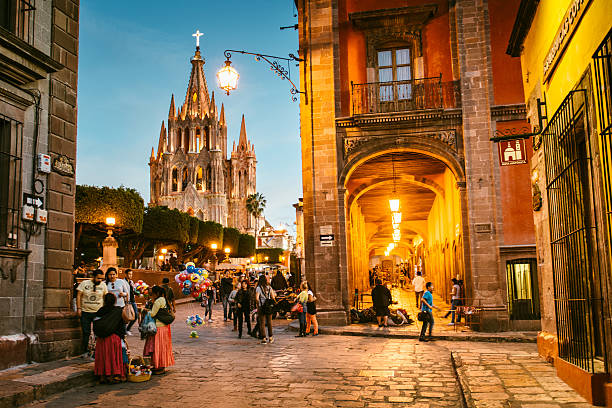 san miguel de allende in mexico - mexico stock pictures, royalty-free photos & images
