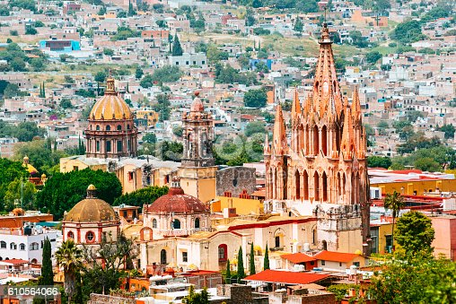 Skyline of San Miguel de Allende, Mexico.