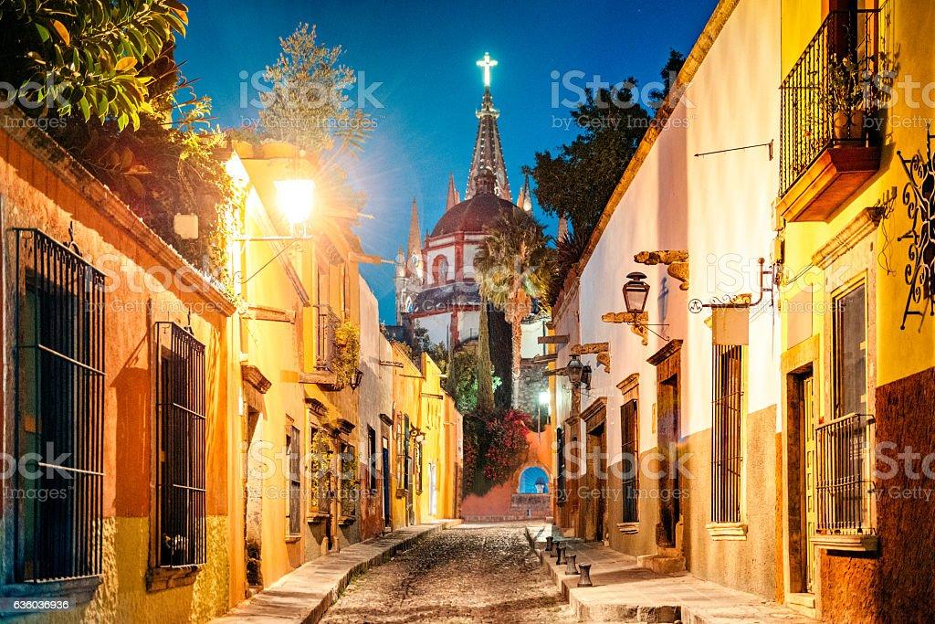 San Miguel de Allende in Mexico royalty-free stock photo