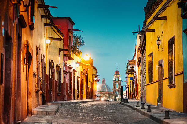 San Miguel de Allende in Messico - foto stock