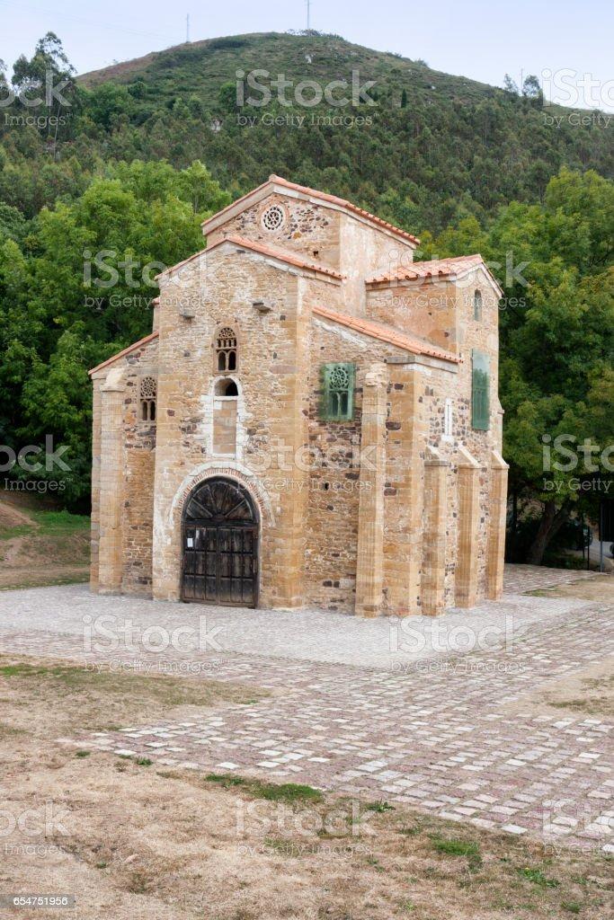 San Miguel de Lillo church, Oviedo, Spain stock photo