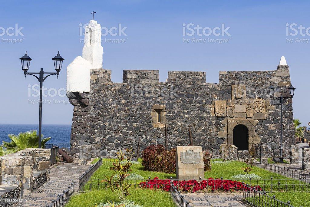 San Miguel Fortress, Garachico, Tenerife royalty-free stock photo