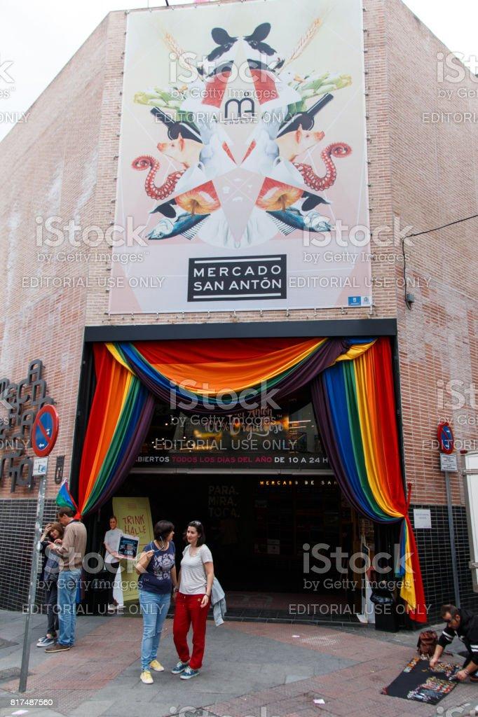 San miguel market stock photo