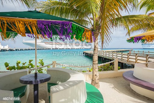istock San Migue's waterfront the Crown Princess cruise ship in background 460741549