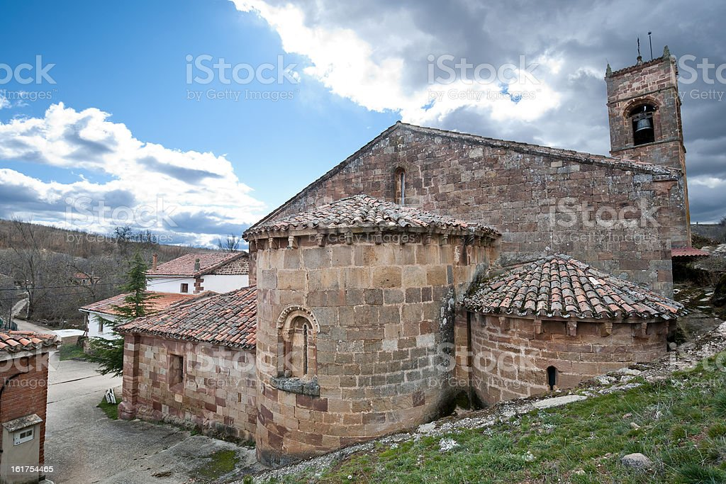 San Millan de Lara Church royalty-free stock photo