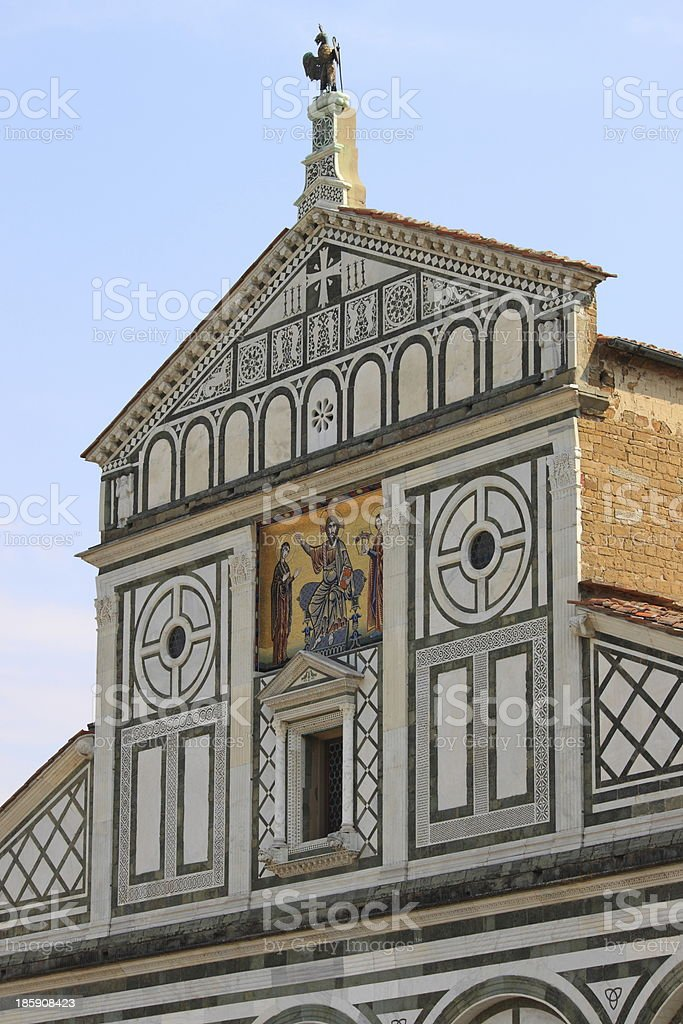 San Miniato Basilica in Florence royalty-free stock photo