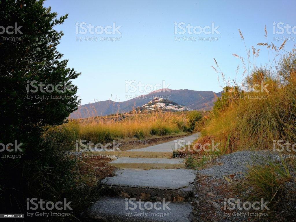 San Nicola Arcella - Sentiero per l'Arcomagno stock photo