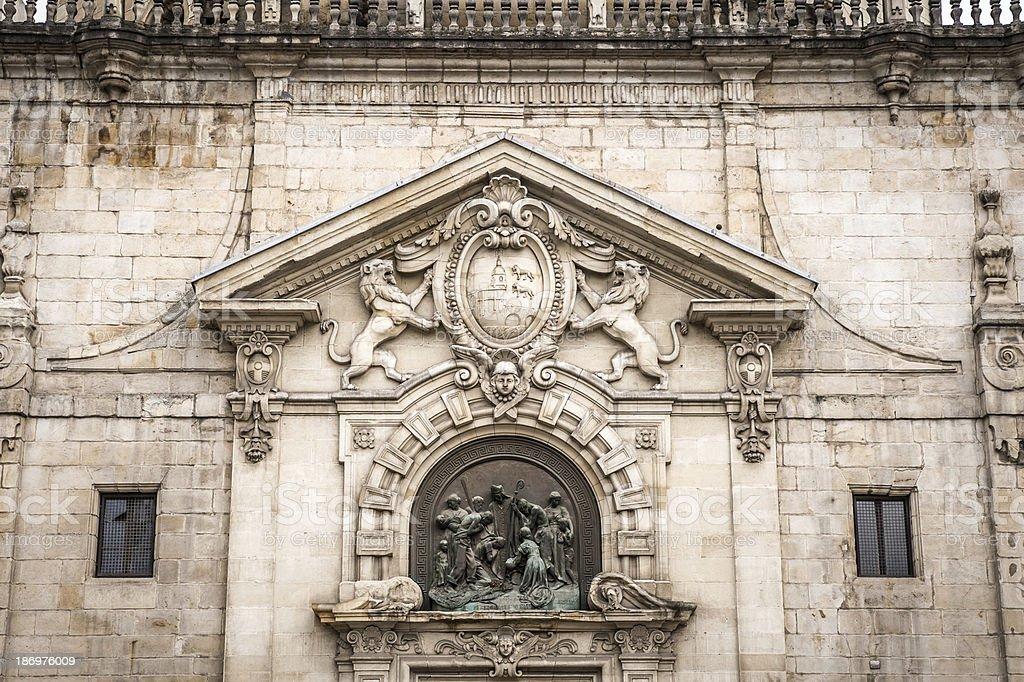San Nicolas Church in Bilbao royalty-free stock photo
