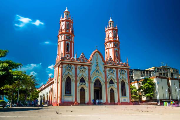 San Nicolas de Tolentino Church stock photo
