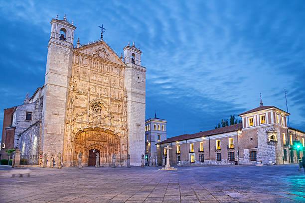 San Pablo Kirche am Abend in Valladolid – Foto