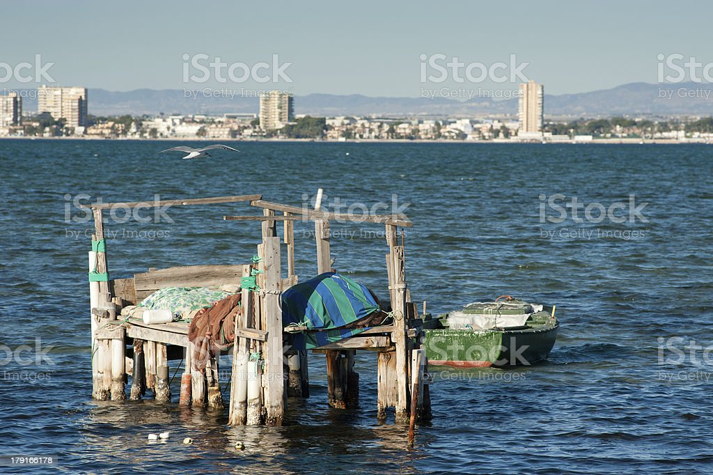 San Pedro bay stock photo