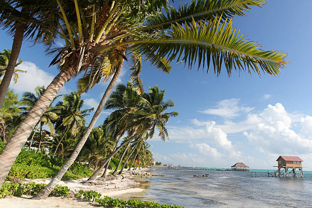 San Pedro Belize stock photo