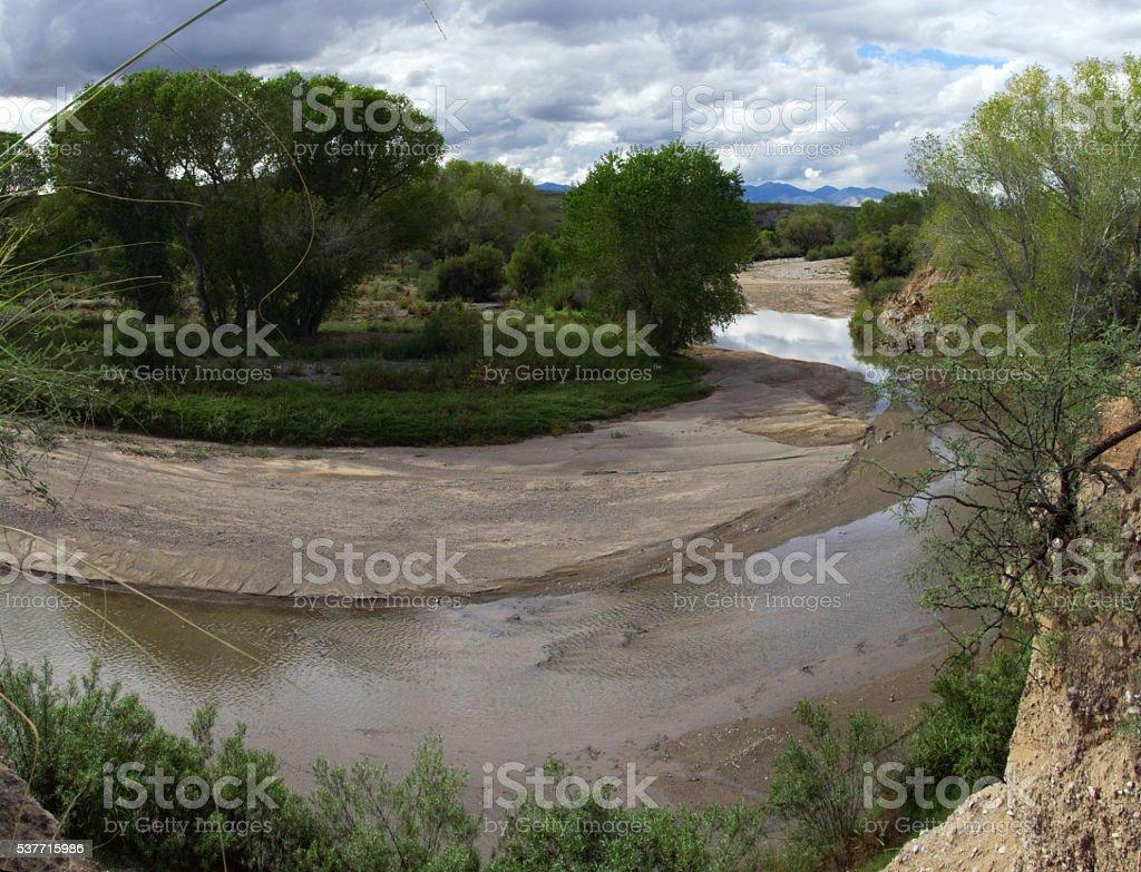 San  Pedro River Bend stock photo