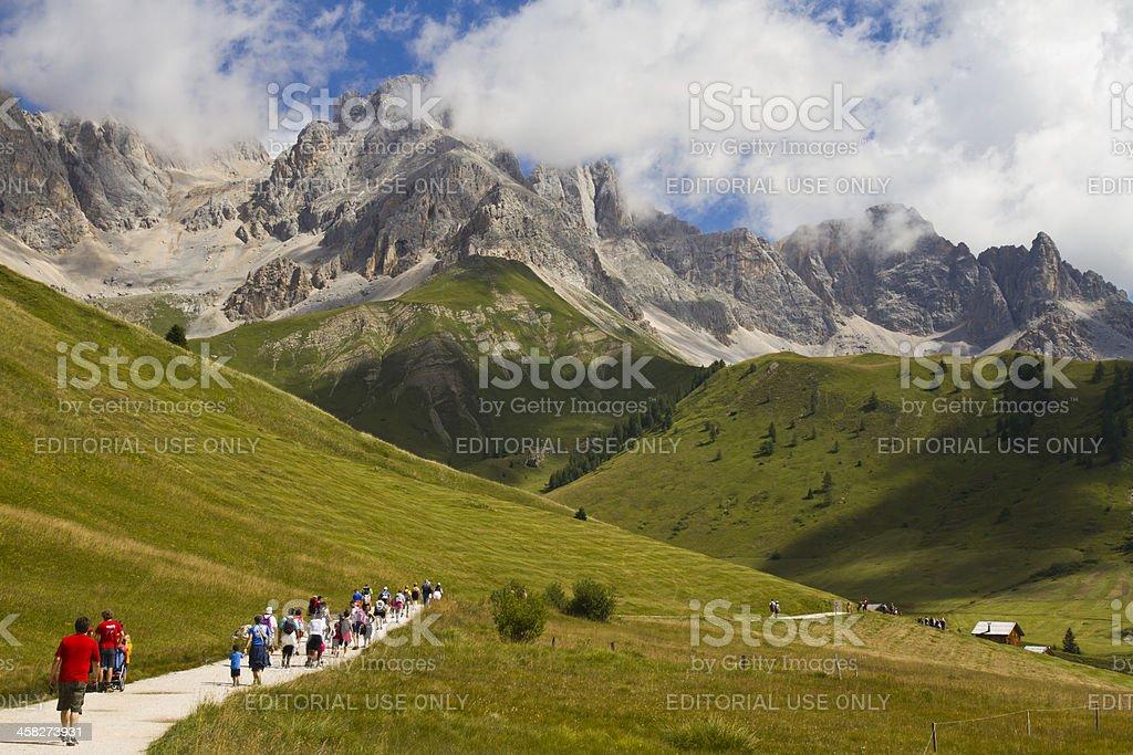 San Pellegrino Pass Dolomites - Sas de Tascia (Italy) stock photo