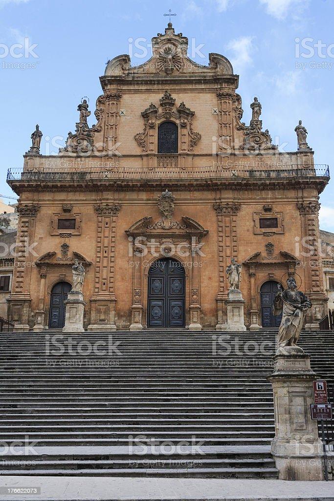 San pietro, modica royalty-free stock photo