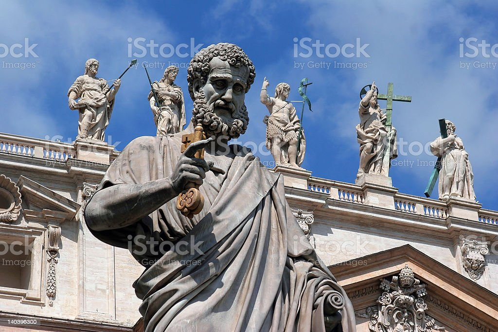 San Pietro's sculptures stock photo