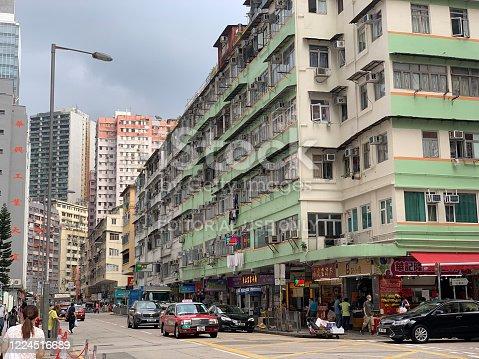 Hong Kong, Hong Kong - May 12, 2020 : General view of the San Po Kong residential district in Kowloon, Hong Kong.