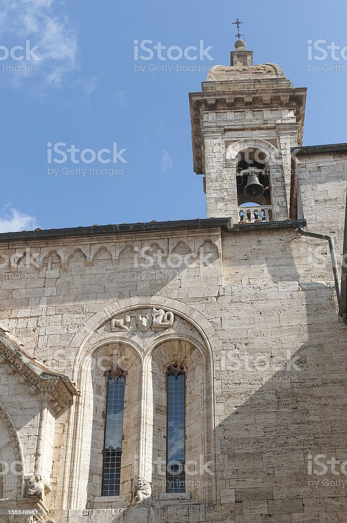 San Quirico d'Orcia (Tuscany), church royalty-free stock photo