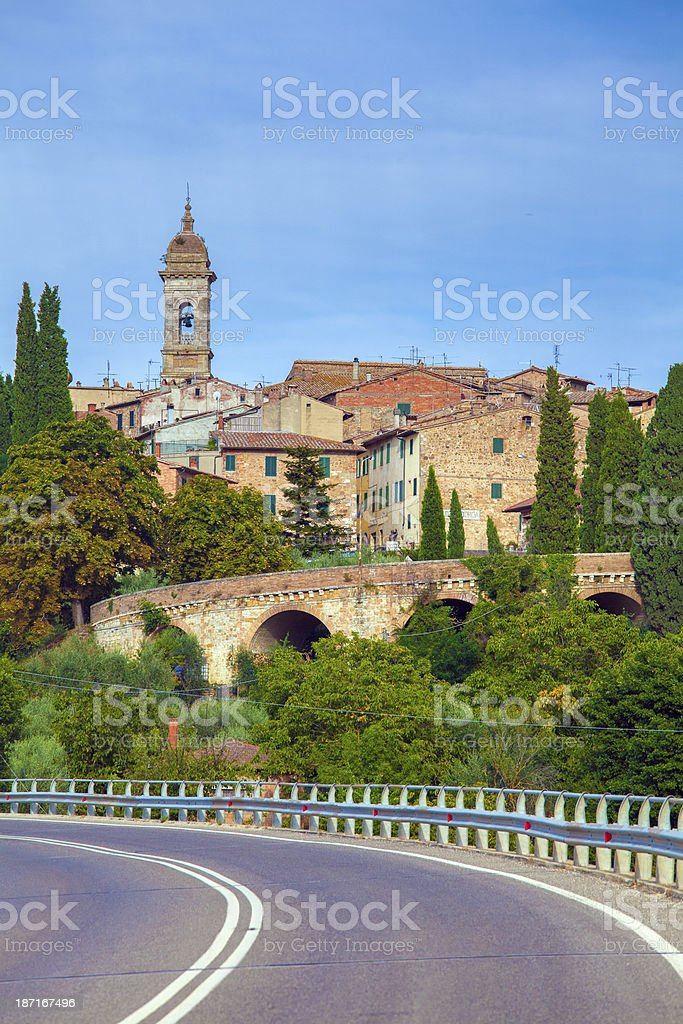 San Quirico d'Orcia in Tuscany, Italy royalty-free stock photo