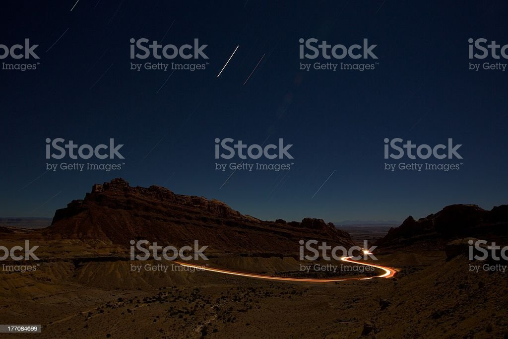 San Rafael Swell and I-70 royalty-free stock photo