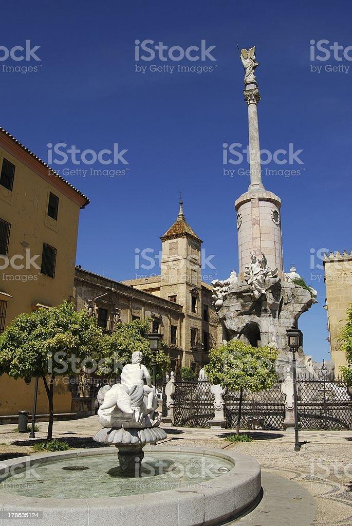 San Rafaels Monument, Cordoba, Spain. stock photo