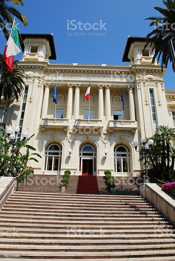 San Remo casino stock photo