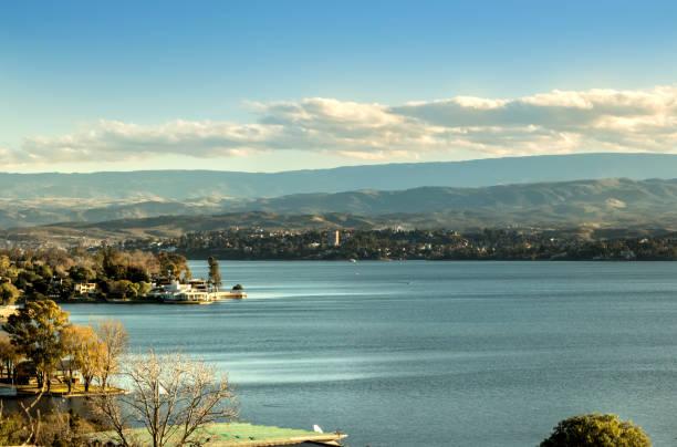 San Roque lake, Villa Carlos Paz, Córdoba, Argentina. stock photo