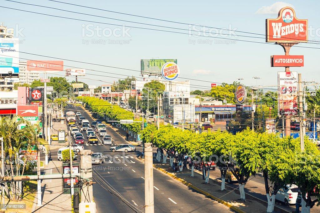 San Salvador cityscape stock photo
