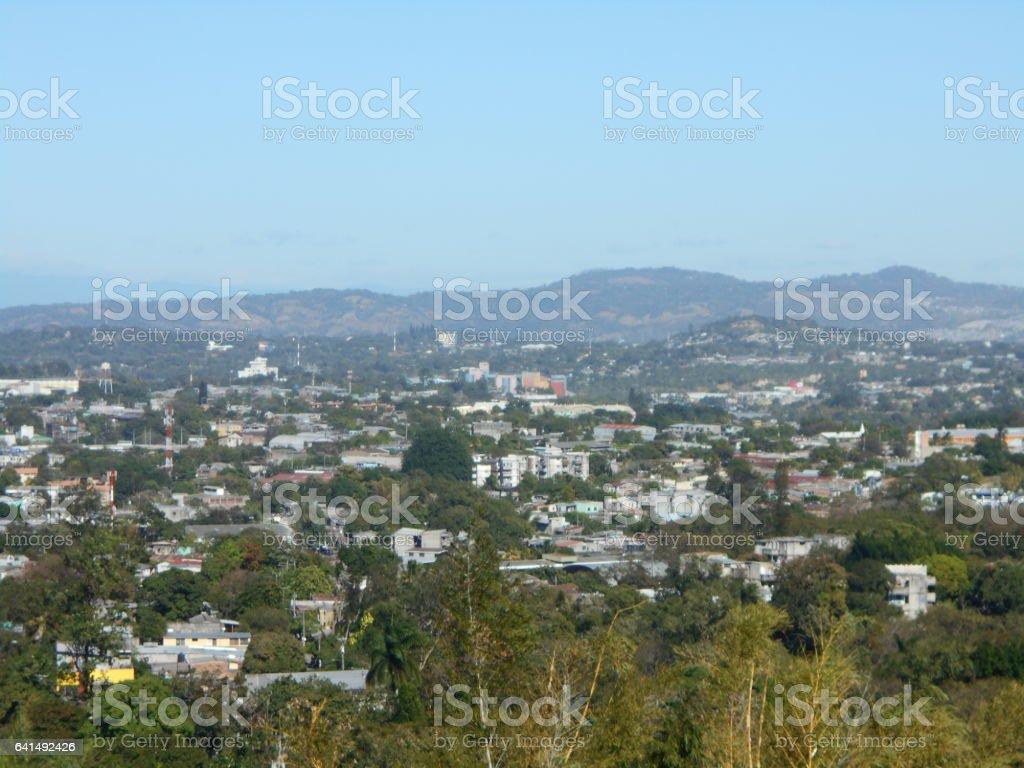 San Salvador skyline stock photo