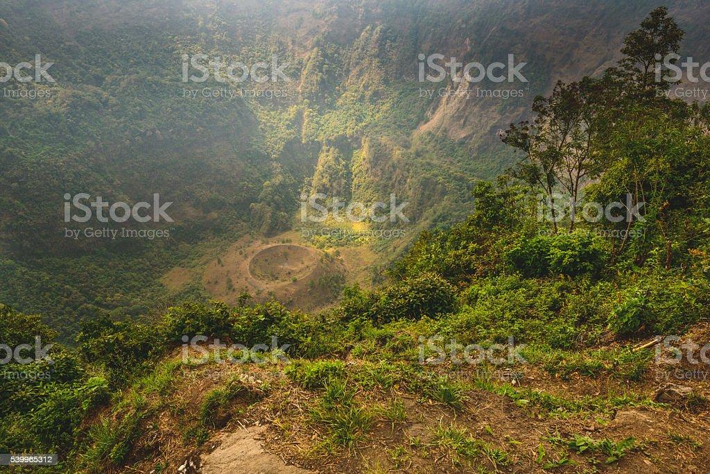 San Salvador volcano hike stock photo