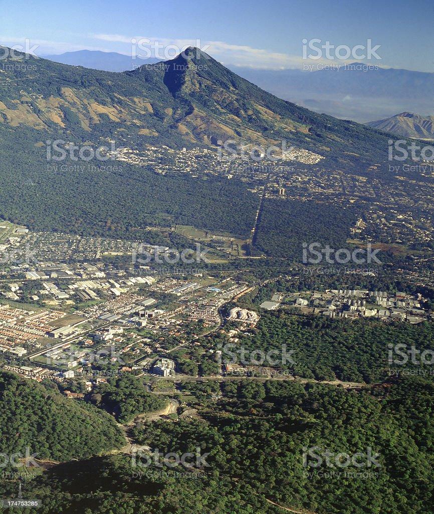 San Salvador volcano stock photo