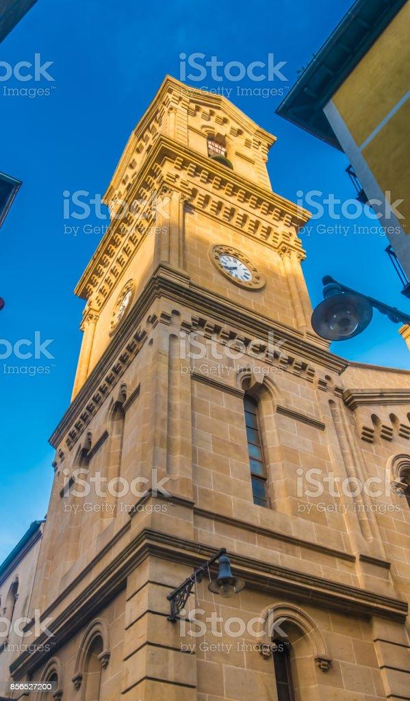 San Saturnino (or San Cernin) Church in Pamplona (Iruña), the historical capitalof Navarre, Spain, XII century stock photo