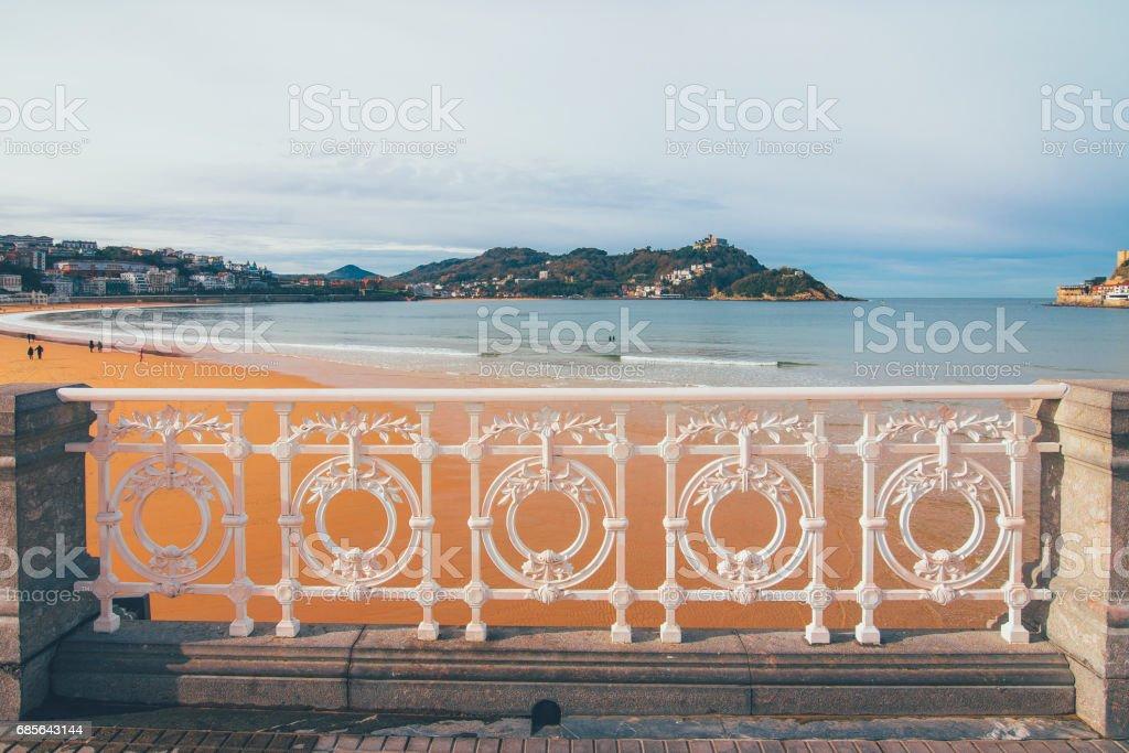 San Sebastian beach foto de stock royalty-free