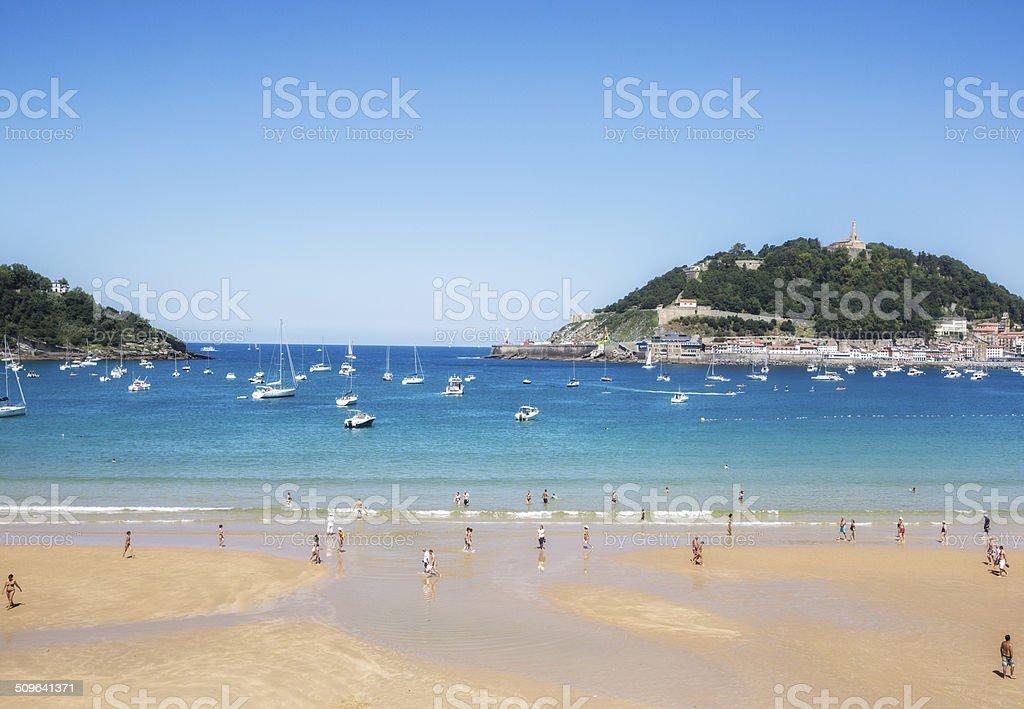 San Sebastian beach Spain stock photo