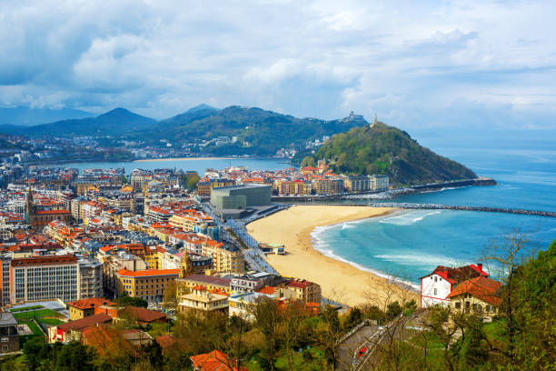 San Sebastian - Donostia city, Basque country, Spain stock photo