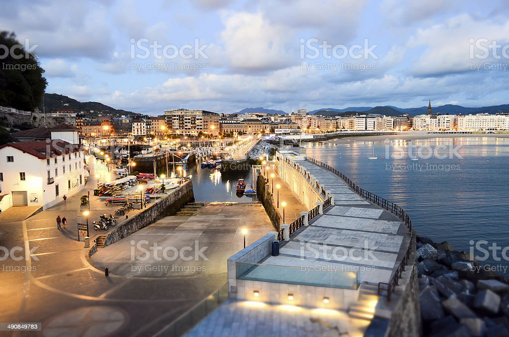 San Sebastian harbour stock photo