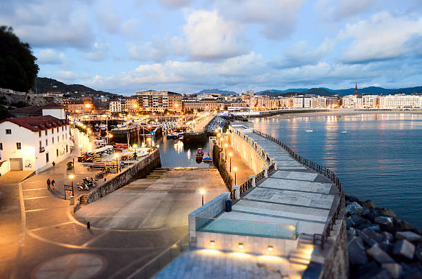 San Sebastian harbour stock photo