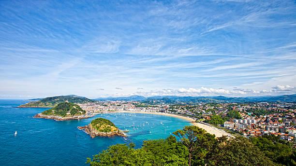 San Sebastian panorama. stock photo