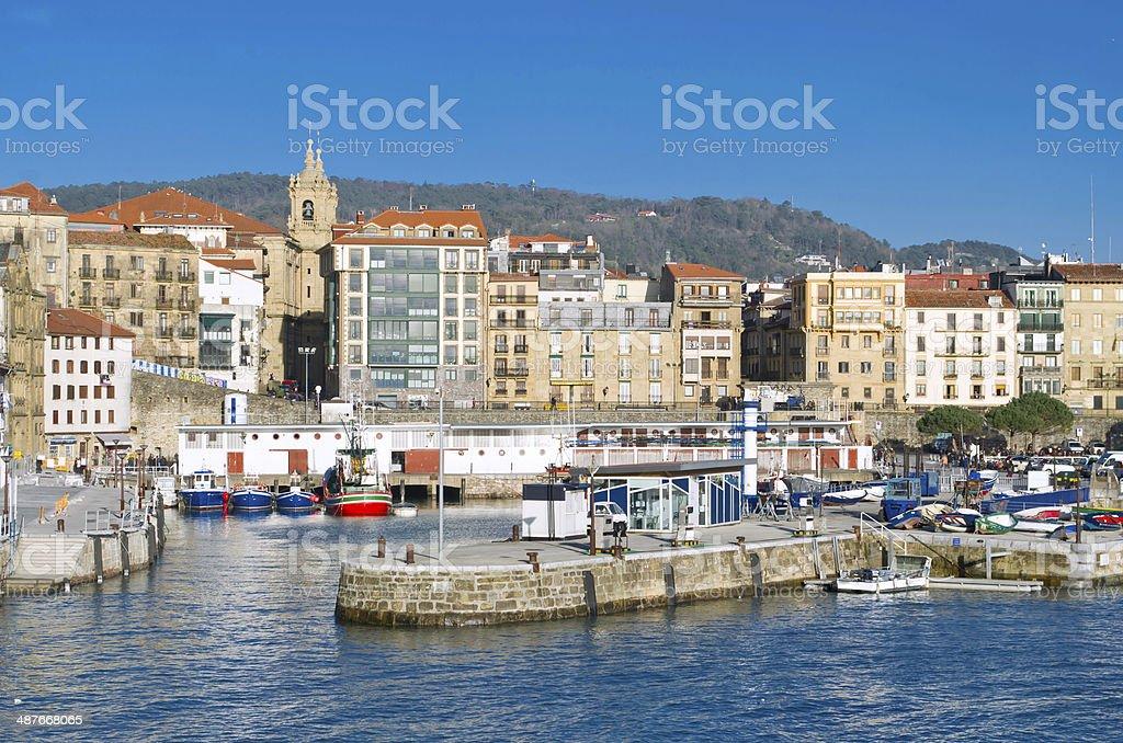 San Sebastian port stock photo